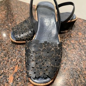Cut out leather sandals